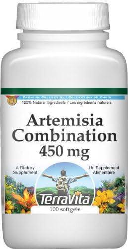 Artemisia Combination Mugwort and Wormwood – 450 mg 100 Capsules, ZIN 513045 – 2 Pack