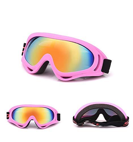 Jusheng Nueva al Aire Libre Que Monta Gafas a Prueba de Viento Gafas de la Motocicleta a Campo traviesa Gafas de esquí del ejército Gafas de esquí versión Colorida (Color : Pink)