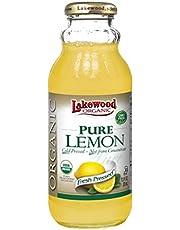 Lakewood Organic Pure Lemon Juice, 370 ml, Lemon