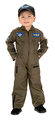 Air Force Pilot Costume (Kids-Costume Air Force Fighter Pilot Toddler Costume Halloween Costume)
