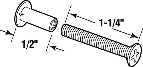 Prime-Line Products E 2057 Sliding Door Binder Posts with 1-1/4 Screws, Aluminum,(Pack of 4) by Prime-Line Products (Image #1)