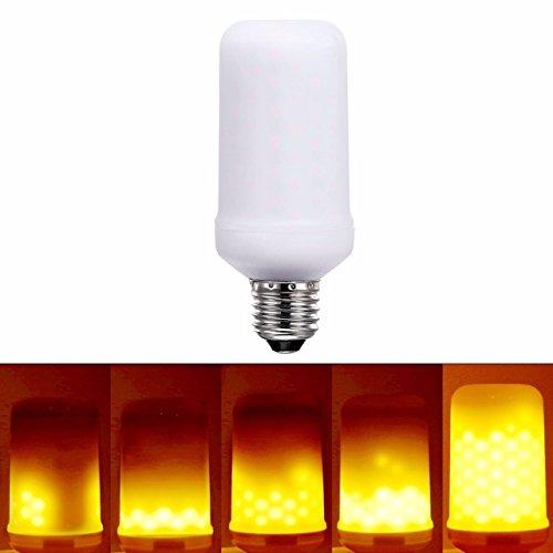 Foco LED de antorcha ahorrador, luz calida decorativa de fuego, foco de fogata