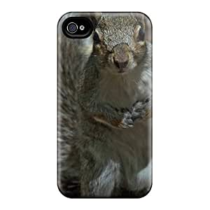 DGENDS Pretty Animals Curious Grey Squirrels Case Cover Iphone 4/4s Series High Quality Case