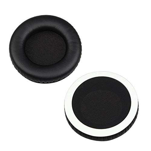 - 1 Pair Cushions Headphones Replacement Ear Pads - Compatible With Steelseries Siberia V1 V2 V3 Gaming Headphones, Soft foam and Protein Leather High Elasticity Durable and Soft (Black)