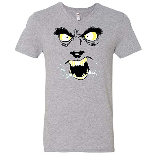 Inktastic Monster Faces Wolfman Men's V-Neck T-Shirt