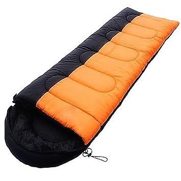 zyt Saco de dormir rectangular saco de dormir Cama individual (150 x 200 cm) 10 algodón hueca 220 x 75, naranja: Amazon.es: Deportes y aire libre