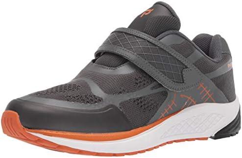 Propét - Sneaker da uomo con cinturino, Grigio (Burnt Orange/Dark Grey), 45 EU