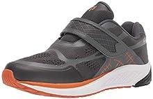 Propet Men's One Strap Sneaker, Burnt Orange/Dark Grey, 10 3E US