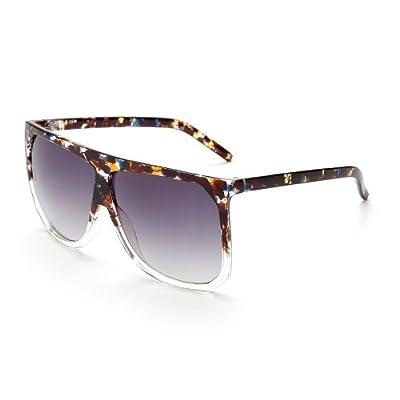 TIANLIANG04 Mode Femmes lunettes surdimensionnées carrés de luxe Grand Gradient Frame Lunettes Lentilles lunettes UV400 1645
