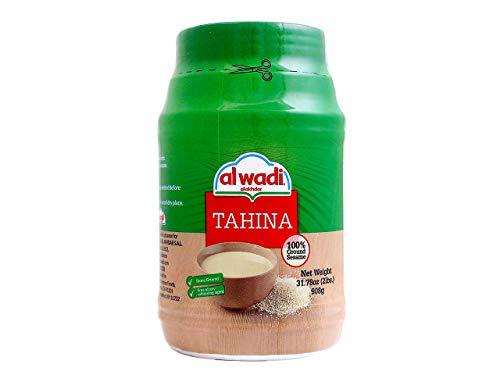 Al Wadi Tahina, Ground Sesame 100%, 32-Ounce Jars (Pack of 2)