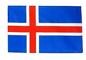 Stock Bandera/Stock Island + Gratis Pegatinas, Flaggenfritze–Bandera, Flagge 30 x 45 cm mit Hohlsaum