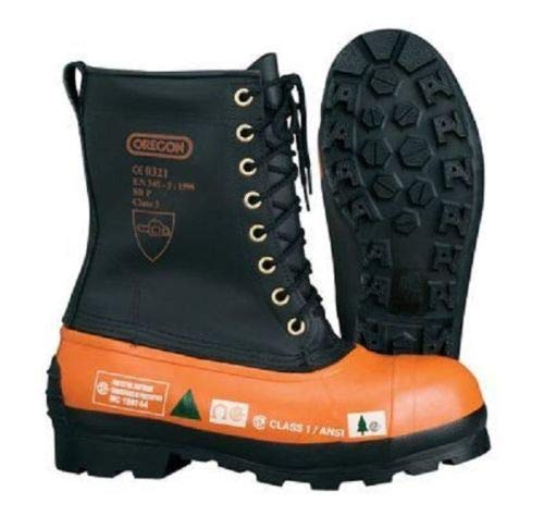 New Oregon 537309 Safety Chainsaw Forestry Boots Size 14 Leather Top - Lug Sole Black best to buy