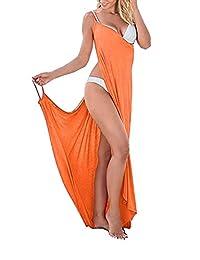 Womens Sexy Deep V-Necklin Maxi Backless Beach Dress Bikini Wrap Long