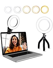 $23 » Video Conference Lighting Kit, Ring Light Clip on Laptop Monitor with 5 Dimmable Color & 5 Brightness Level for Webcam Lighting/Zoom Lighting/Remote Working/Self Broadcasting and Live Streaming, etc.