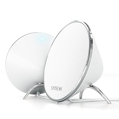 Satechi ST-WDS20 Dual Sonic Conical v2.0 Computer Speakers for Mac, Laptops and PC - White (Computer Speakers Mac)