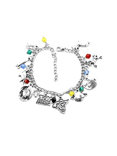 Toy Story Buzz Woody Tim Allen Slippers Dorothy Charm Bracelet Quality Cosplay Jewelry Disney Movie Series with Gift Box