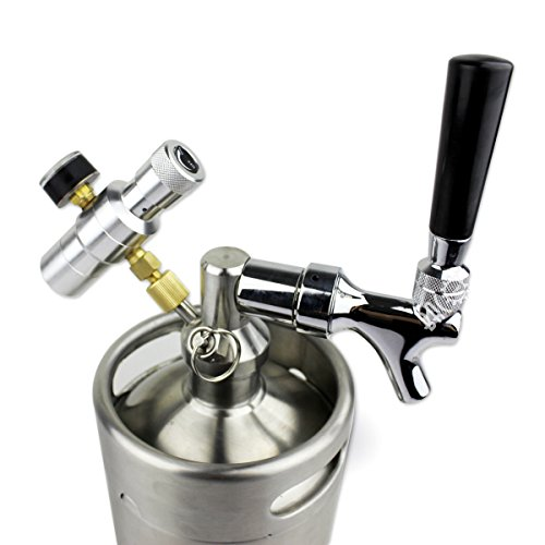 BACOENG 128 Ounce Pressurized Keg Growler, Kegerator for Home Brew Beer with Updated CO2 Regulator by BACOENG (Image #3)