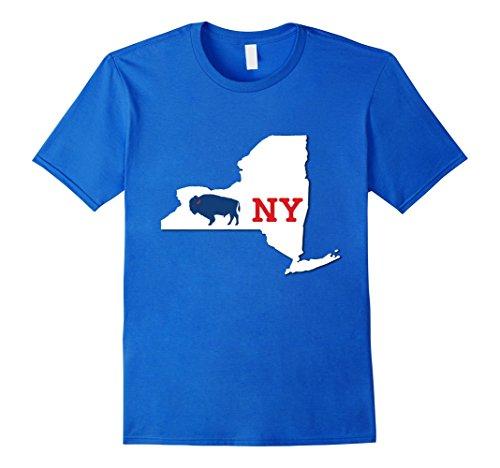 Mens Buffalo Shirt New York City & State Pride Large Royal - Mall Buffalo Ny