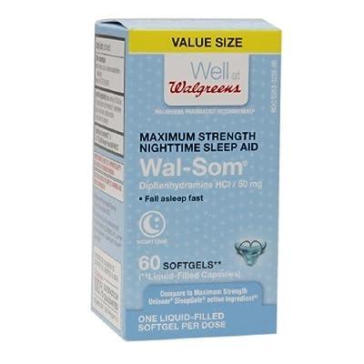 Walgreens Wal-Som Sleep-Aid Softgel 60 ea
