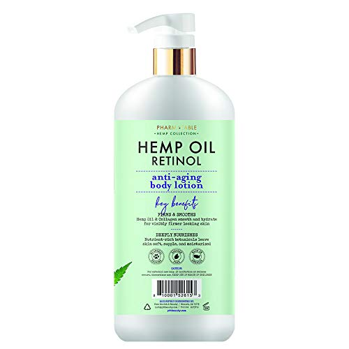 41A5%2BzdY67L - Hemp Body Lotion Retinol Anti-Aging 32oz / 960ml by Pharm to Table