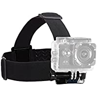 Defway Head Strap Camera Mount Elastic Flexible Adjustable Belt for GoPro, Beownwear Action Sport Camera Accessory