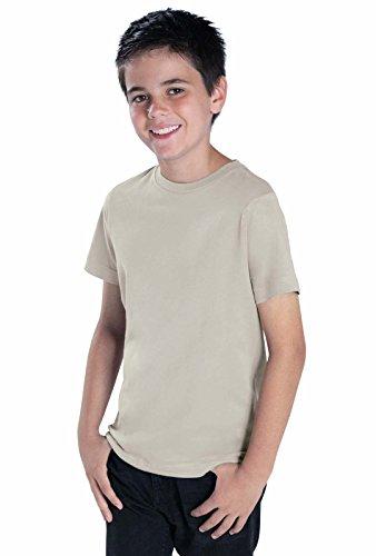 LAT Youth 100% Cotton Jersey Crew Neck Short Sleeve Tee (Garnet, Large)