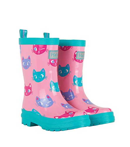 Hatley Printed Boot Girls Rain Accessory, Silly Kitties, 4 US Child ()