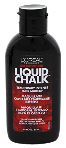 Loreal Liquid Chalk Hair Makeup - Better Off Red 1.6 Ounce (47ml) (2 Pack) by L'OREAL