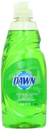 Dawn Ultra Antibacterial Hand Soap Dishwashing Liquid, Apple Blossom Scent, Green, 14 Ounce (Pack of 15) by Dawn