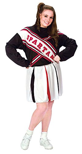 Female Spartan Cheerleader Costumes (Cheerleader Spartan Girl Plus Adult Womens Costume)