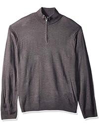 Men's Soft Acrylic Quarter Zip Sweater