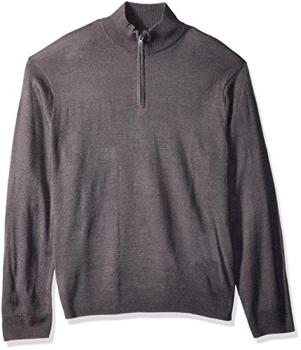 men s soft acrylic quarter zip sweater