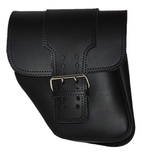 La Rosa Harley-Davidson Dyna Wide Glide HD Big Strap Black Leather Left Swing Arm Saddle Bag