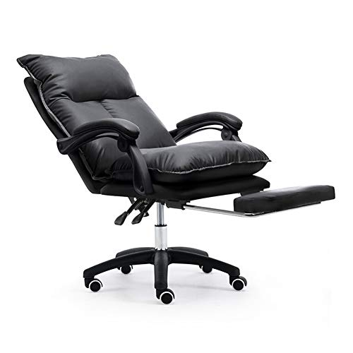 Silla de gaming con ancla, Live Chair Boss, para oficina, para nina, con reposapies, de nailon, color rosa, Material:, color, black