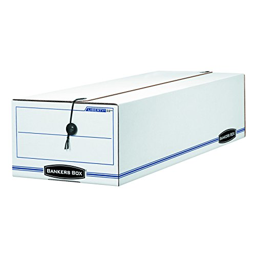 Bankers Box 00022 LIBERTY Storage Box, Record Form, 9 1/2 x 23 1/4 x 6, White/Blue (Case of 12) by Bankers Box