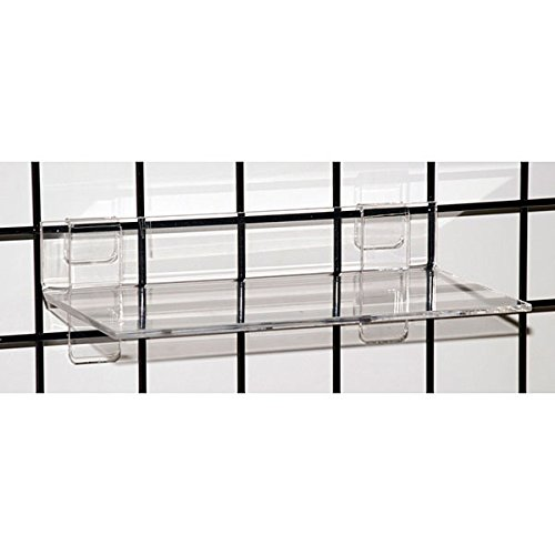 Count of 4 New Retails Clear Acrylic Grid Shelf 12'' w x 6''d x 1/4'' thick by Grid Shelf