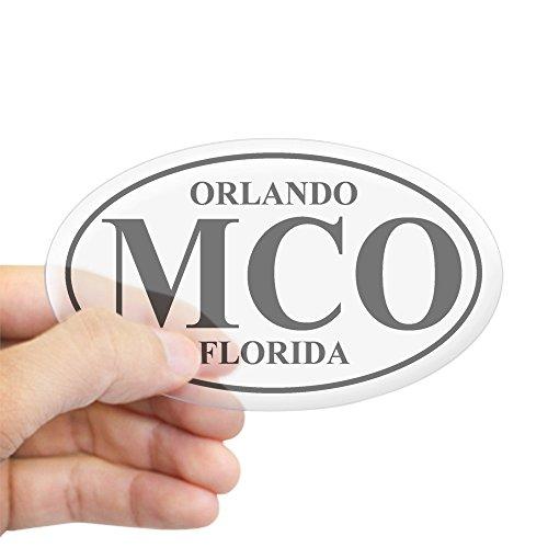 CafePress - MCO Orlando Oval Sticker - Oval Bumper Sticker, Euro Oval Car - Florida Airport Orlando