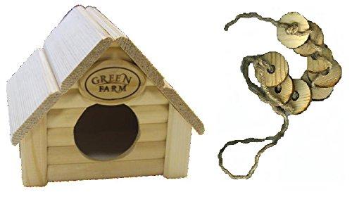 Green Farm Cabin House Chew Toy