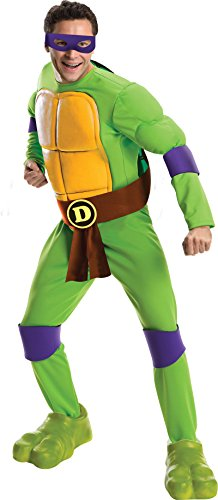 Ninja Costumes Adults (Rubie's Costume Men's Teenage Mutant Ninja Turtles Deluxe Adult Muscle Chest Donatello, Green, Standard)
