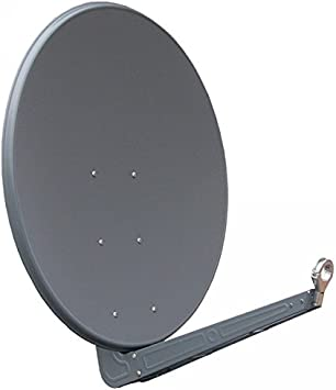 Antena Gibertini 100 cm Alu antracita SE Serie con soporte de acero fundido con forma de 40 mm, nuevo
