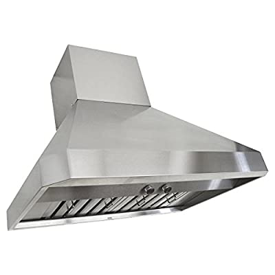 KOBE Range Hoods RA0230SQB-DC24-1 3-Speed 760 CFM Premium Wall Mount Range Hood Fits Ceiling Heights Of 9-10-1/2'