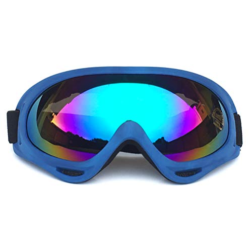 NEAER Ski Snowboard Snow Goggles Motorcycle Goggles Mask Anti-Fog UV Protection Anti-Slip Strap Goggles for Men ()