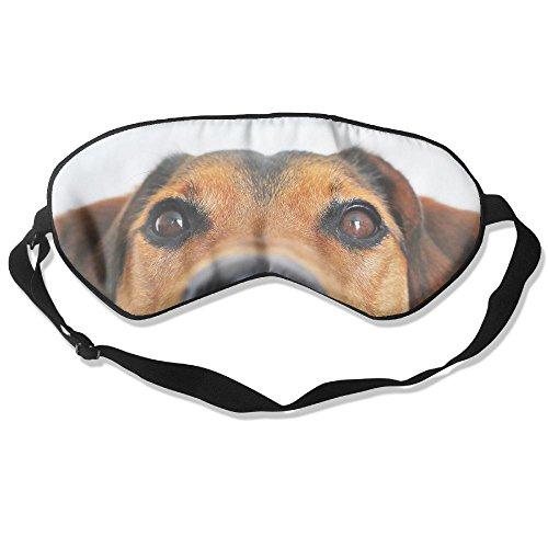 (ZHYPMNU Sleeping Mask Adorable Dog Watch You Adjustable Eye Mask Cover Eyeshade)