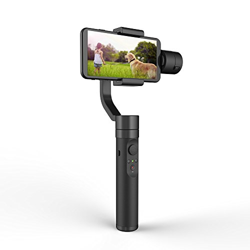 YI Phone Gimbal 3-Axis Handheld Stabilizer with APP Control, Smart Track, 360 Degree Pan for iPhone, Android Smartphones – Black