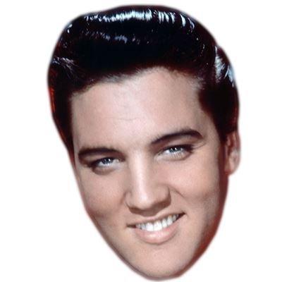 Elvis Mask (Elvis Celebrity Mask, Card Face and Fancy Dress Mask)