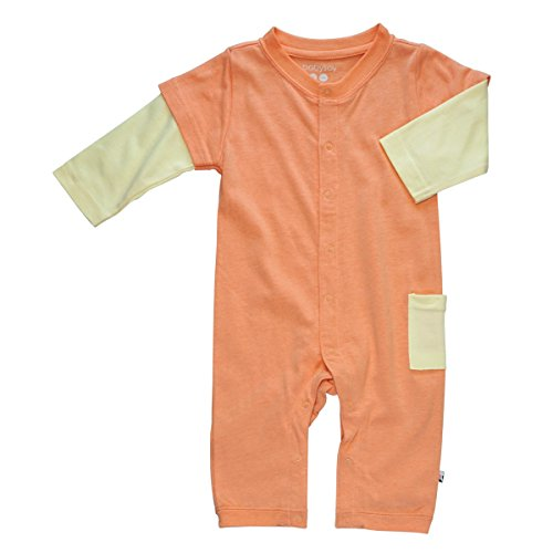 Babysoy Layered One Piece Romper (18-24 Months, Cantaloupe)