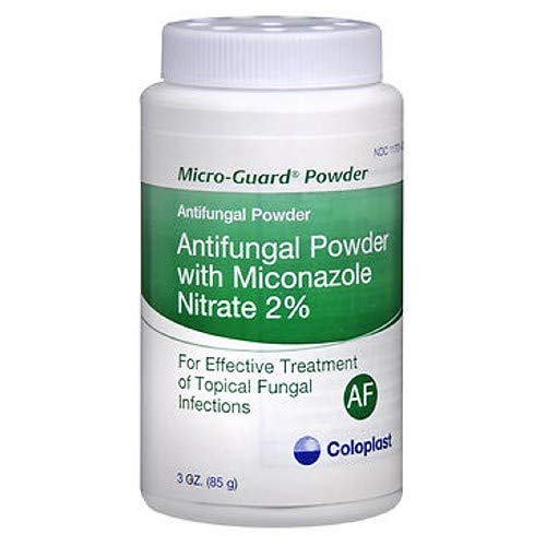 Coloplast Micro-Guard Antifungal Powder with Miconazole Nitrate 2% - 3 oz, Pack of 3