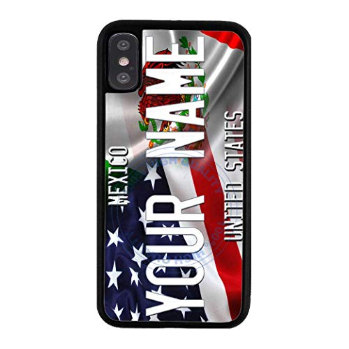 - BRGiftShop Personalize Your Own Mixed USA and Mexico Flag Rubber Phone Case For Apple iPhone Xs Max