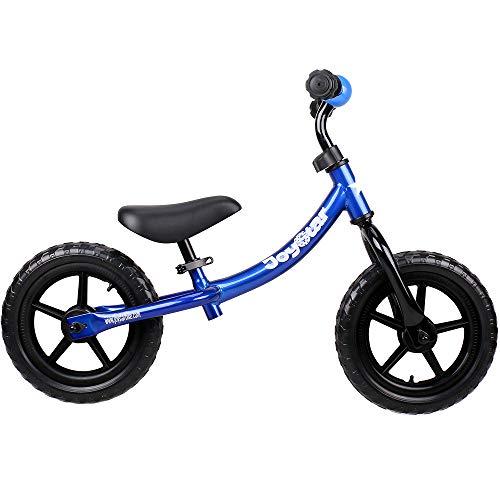 JOYSTAR Balance Bike for 1.5-5 Years Boys, Toddler Push Bike with EVA Polymer Foam Tire for Child, 12 inch Kids Glider Bike, Children Slider Cycle, Kids Pedalless Bike, Blue (Boys Blue Bike)
