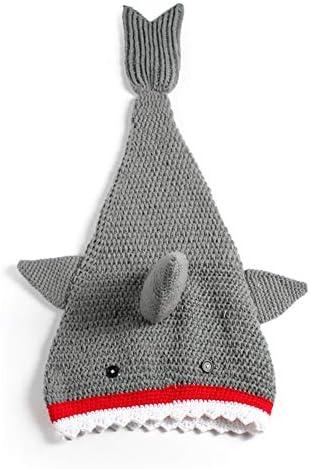 JSIHENA Gigoteuse Bébé Grenouillère Enfant Sac De Couchage Fait Main pour Enfant en Caddice Requin Pas Peur D'attraper Froid La Nuit